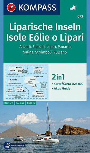 Kompass WK693 Isole Eolie o Lipari / Eolische en Liparische Eilanden