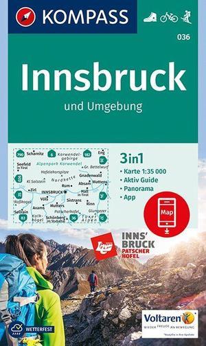 Kompass WK036 Innsbruck und Umgebung