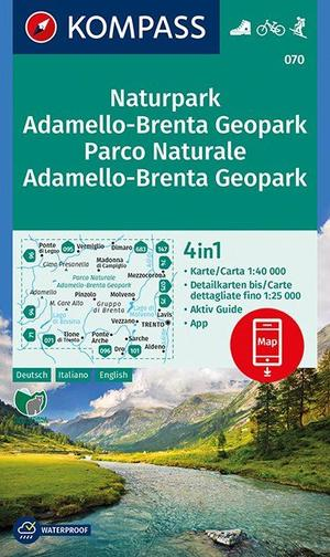 Naturpark Adamello-Brenta Geopark, Parco Naturale Adamello-Brenta Geopark 1:40 000