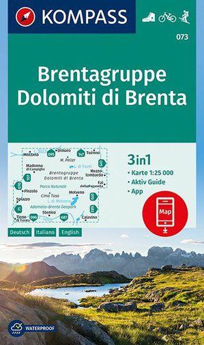 Dolomiti di Brenta, Brentagruppe 1 : 25 000