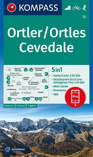 Ortler/Ortles, Cevedale 1 : 50 000