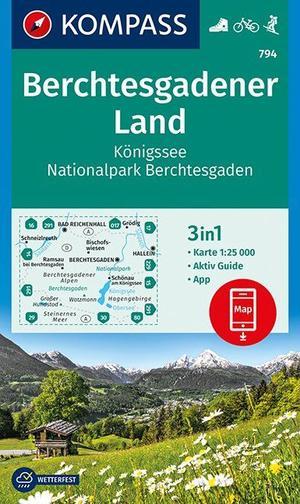 Berchtesgadener Land, Königssee, Nationalpark Berchtesgaden 1 : 25 000