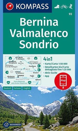 Bernina, Valmalenco, Sondrio 1:50 000