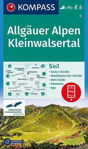 Allgäuer Alpen / Kleinwalsertal 3GPS wp+AG