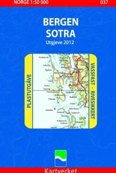 037 Bergen Sotra 1:50.000 Statens Plast