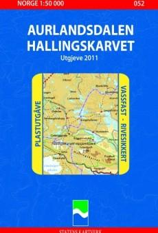 052 Aurlandsdalen 1:50.000 Statens Plast