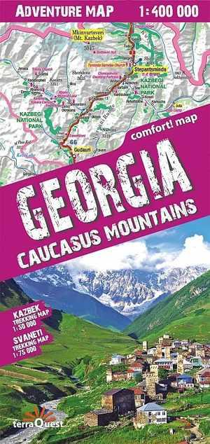 Georgia - Caucasus Mountains Adventure Map
