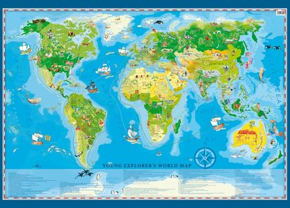 Young Explorer's World Map