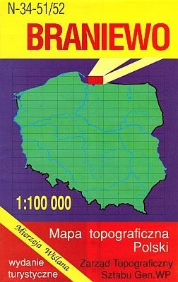 N-34-51/52 Braniewo 1:100.000