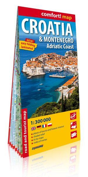 Kroatië / Montenegro / Adriatische kust comfort! map