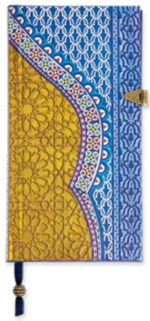 Boncahier Arabian nights - blauw/goud