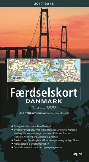 Faerdselskort Denemarken Atlas 1:200.000