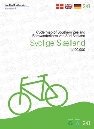 Zuid-Zeeland - Denemarken fietskaart