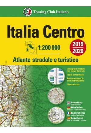 Italië Centraal wegenatlas - atlante stradale Italia Centro TCI