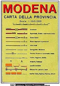 Modena (emilia-romagna) 1:150d
