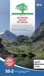 50-2 Val Pellice, Valle Po 1:50.000