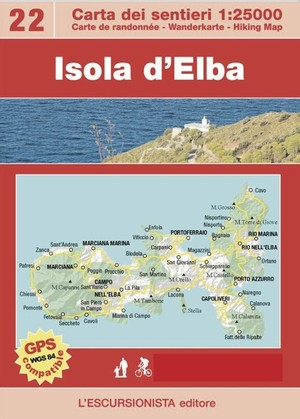 22 Isola D'elba 1:25.000 Escursionista En