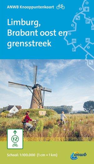 ANWB knooppuntkaart fiets Limburg, Brabant oost en grensstreek
