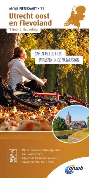 Utrecht oost en Flevoland,'t Gooi & Heuvelrug 1:50.000