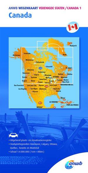 Wegenkaart 1. Canada