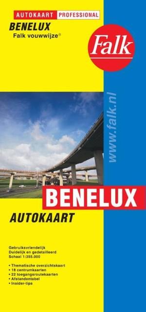 Benelux Autokaart Falk-vouwwijze
