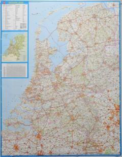 Wandkaart Nederland