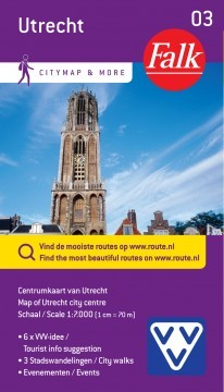 Centrum recreatiekaart Utrecht