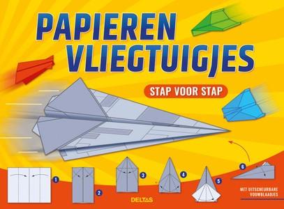 Papieren vliegtuigjes - stap voor stap