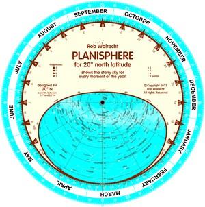 Planisfeer voor 20° NB ENG