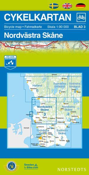Skane North West Cycling Map