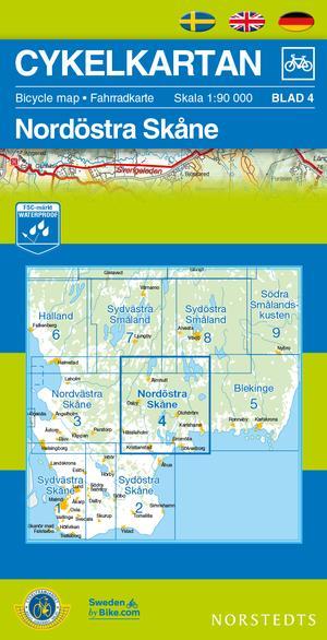 Skane North East Cycling Map