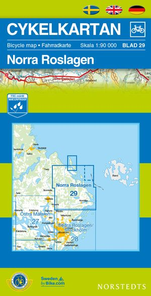 Roslagen North Cycling Map