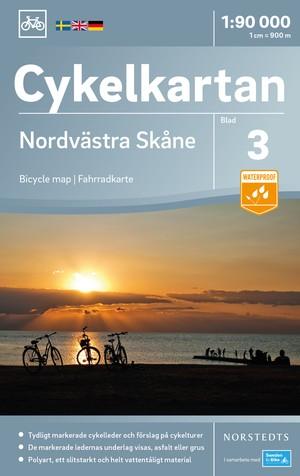 Skane Noordwest fietskaart