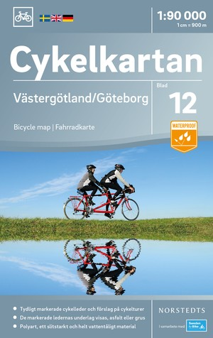 Västergötland / Göteborg fietskaart