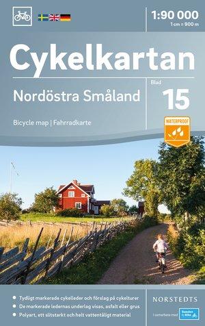 Smaland Noordoost fietskaart