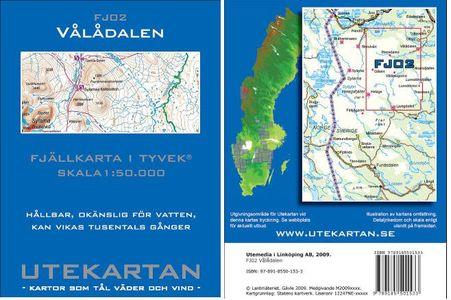 Fj02 Valadalen 1:50.000 Svenske Utekartan