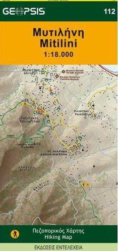 Mitilini Hiking Map Lesvos 1/18. Geopsis