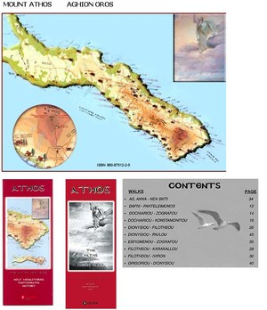 Mount Athos - Map + Guide - Reisgids En Kaart Van De Berg Athos