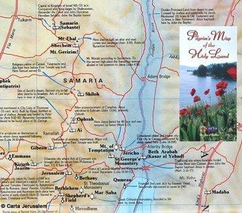 Pilgrims Map Of The Holy Land - Carta