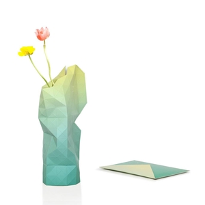 Paper Vase Cover Green Fade
