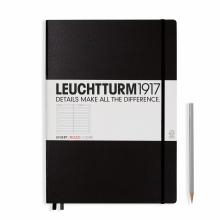 Leuchtturm A4+ Master Classic Black Ruled Hardcover Notebook