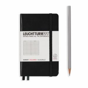 Leuchtturm A6 Pocket Black Squared Notebook
