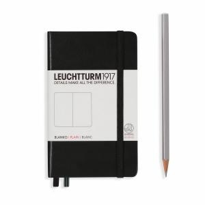 Leuchtturm A6 Pocket Black Plain Hardcover Notebook