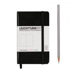 Leuchtturm A6 Pocket Black Dotted Hardcover Notebook