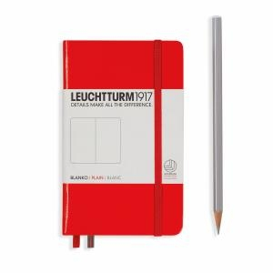 Leuchtturm A6 Pocket Red Plain Hardcover Notebook