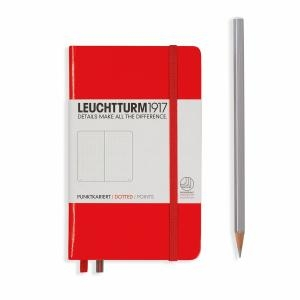 Leuchtturm A6 Pocket Red Dotted Hardcover Notebook
