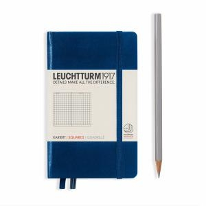 Leuchtturm A6 Pocket Navy Squared Hardcover Notebook