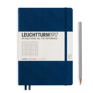 Leuchtturm A5 Medium Navy Squared Notebook