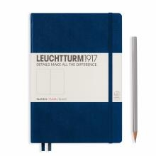Leuchtturm A5 Medium Navy Plain Hardcover Notebook