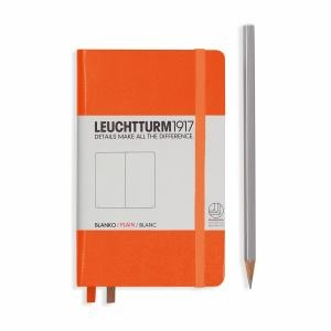Leuchtturm A6 Pocket Orange Plain Hardcover Notebook